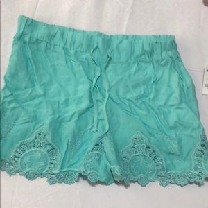Charlotte Russe Teal Shorts